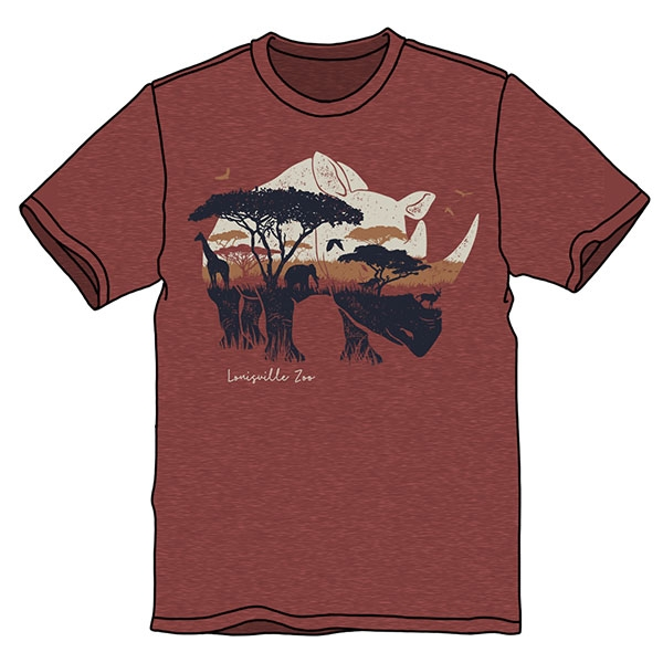 ADULT GRASSLANDS RHINO TEE